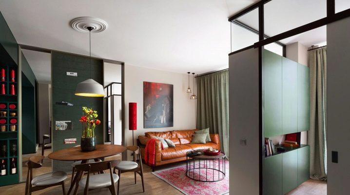 40 वर्ग मीटर के डिजाइन अपार्टमेंट। मी: अंदरूनी के उदाहरण