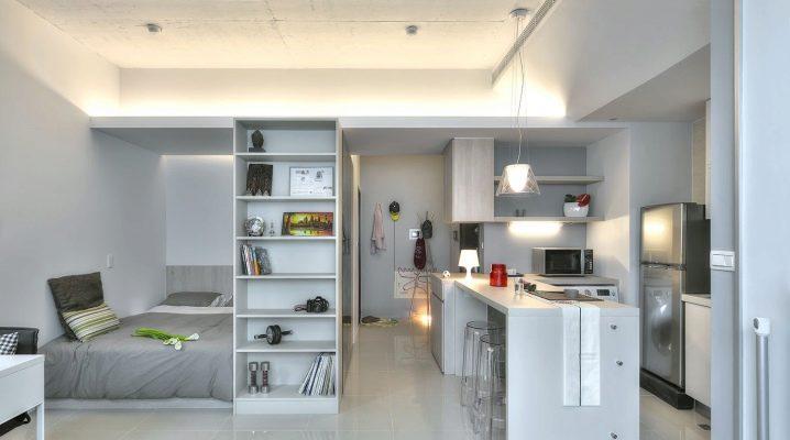 Ontwerp van een klein appartement met één kamer: interessante ideeën