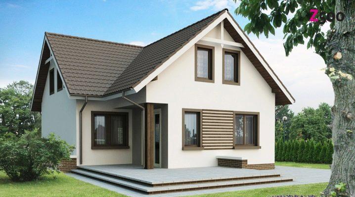 Tvåvånings hus som mäter 7x7 m: intressanta layouter