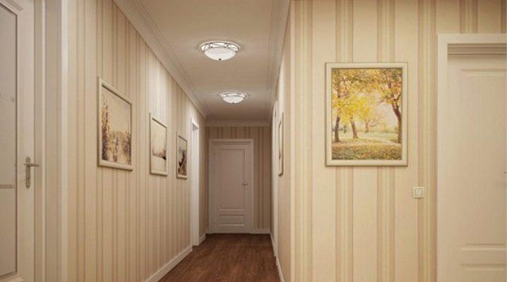 Jak wybrać tapetę na korytarz, powiększając przestrzeń?