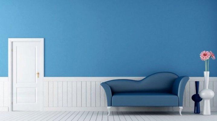 Hur man väljer blått tapeter i rummet?