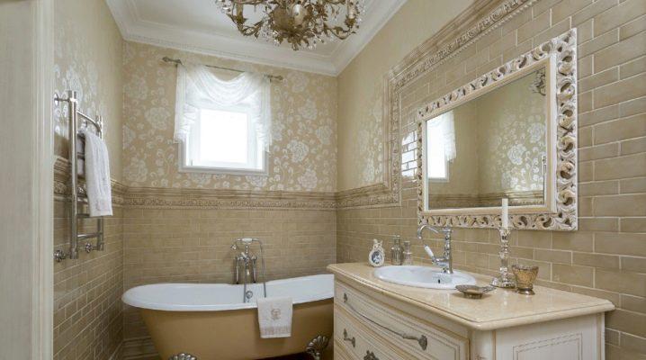 Tapeten für das Badezimmer (73 Fotos): feuchtigkeitsdichte ...