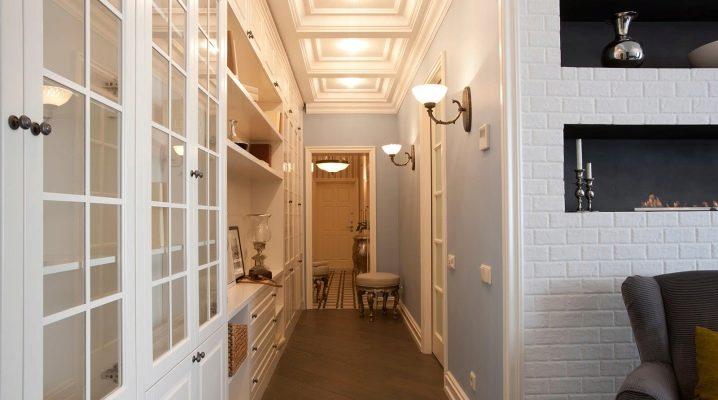Fashionable design for a narrow hallway