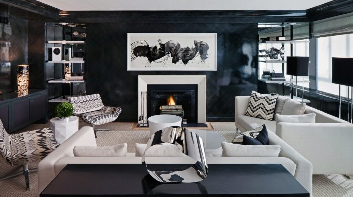 Fashionable interior living room in a private house