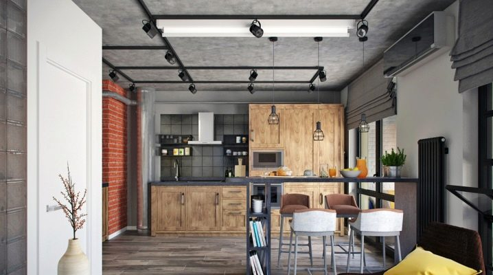 Studio apartment in the loft style: examples of design