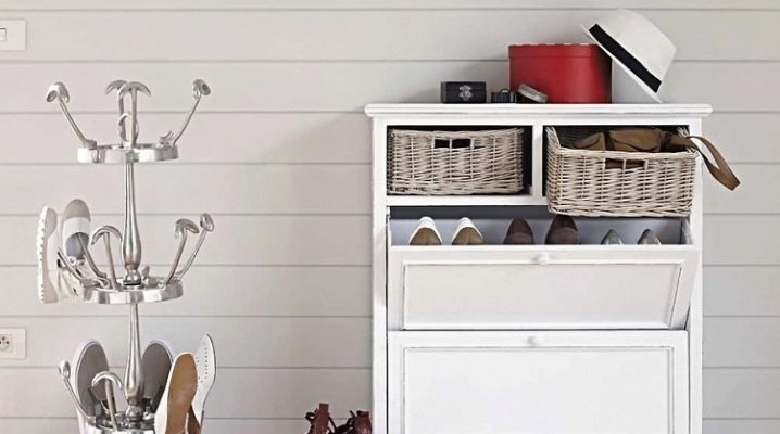 Shelves for shoes in the hallway: stylish and functional