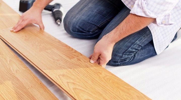 Lägga laminat på trägolv