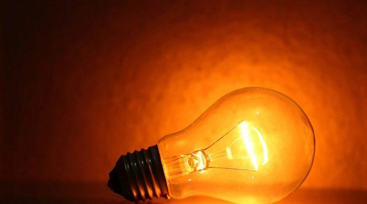 Toutes sortes d'ampoules à incandescence