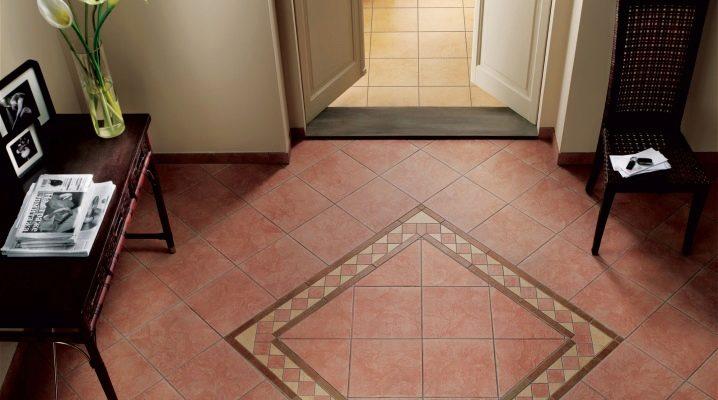 Choosing tiles on the floor in the corridor