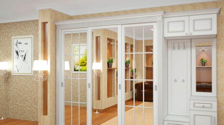 Armoires à glace pour un couloir dans un intérieur moderne