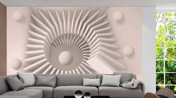 3D tapeter till hallen: animera situationen i inredningen av lägenheten