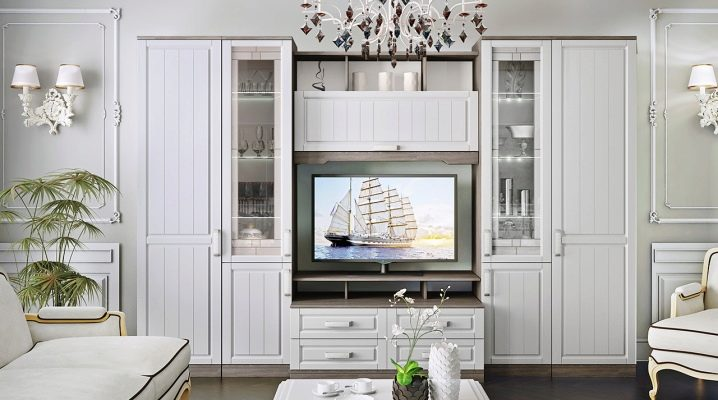 White furniture for the living room: we place accents correctly