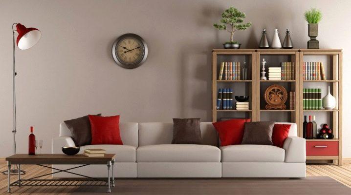 Grande horloge murale pour le salon: idées originales