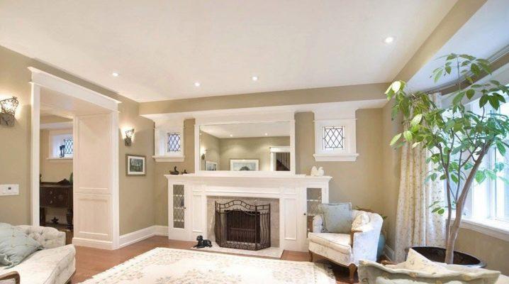 Färgen på väggarna i vardagsrummet: bra alternativ för hem och lägenhet