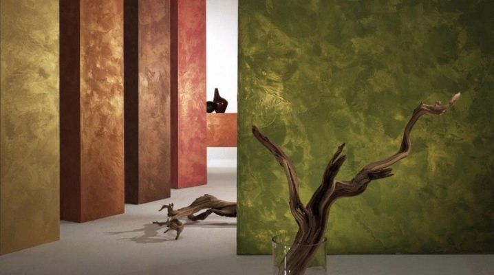 Silk effect decorative wall paint: application features