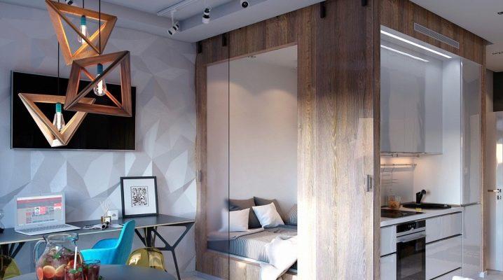 Conception d'un appartement d'une pièce: exemples de design d'intérieur