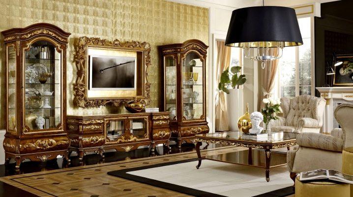 Italienska möbler till vardagsrummet: elegans i olika stilar