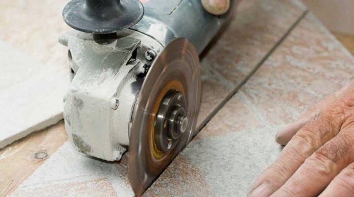 Hur skärs kakel med kvarn: viktiga processnyanser