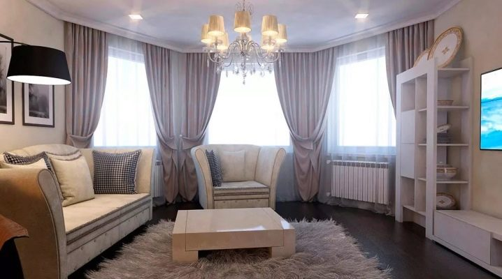 How to make a living room with a bay window?