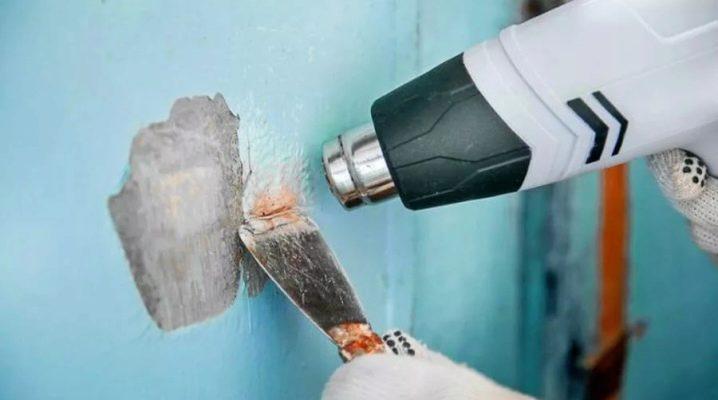 Hur tar man bort den gamla färgen från väggarna?