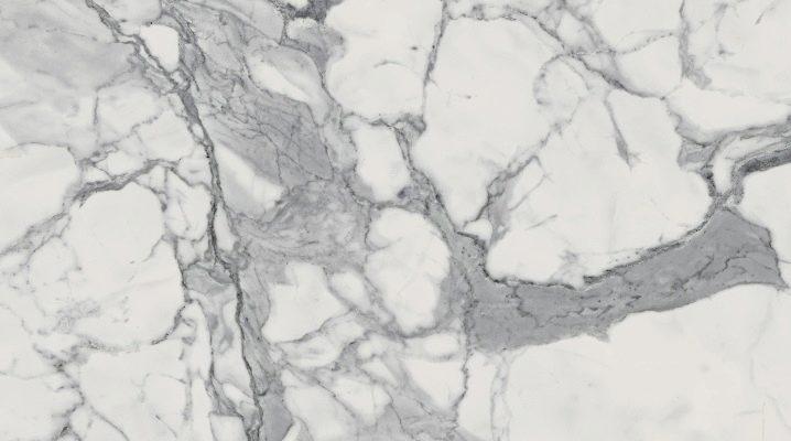 Porslinsstengods marmorerade: typer och storlekar