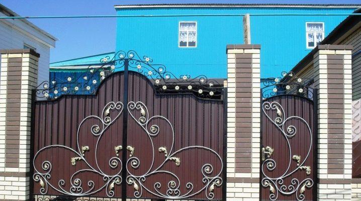 Smidda föremål för staketet: ursprungliga idéer