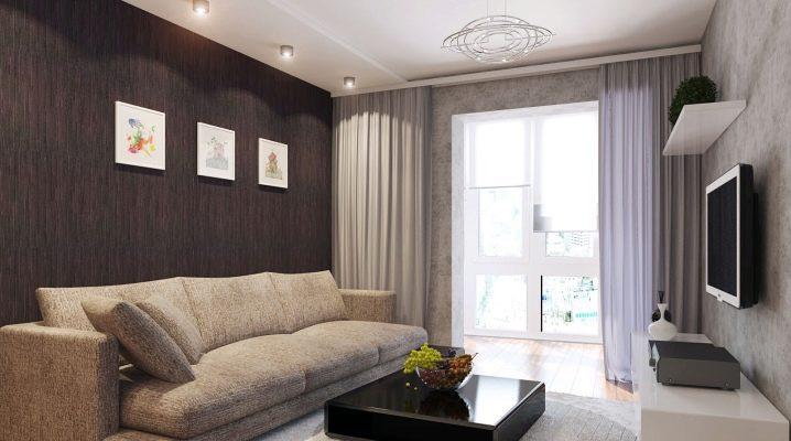 Beautiful interior design living room of 15 square meters. m