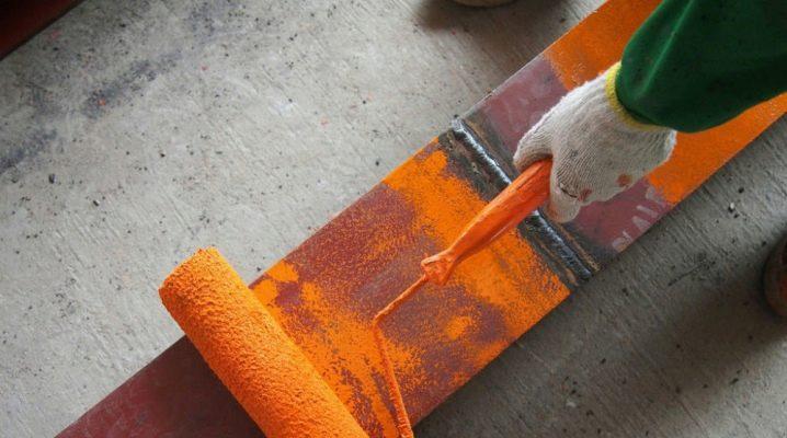 Metal üzerinde Çekiç boya: özellikleri ve çeşitleri