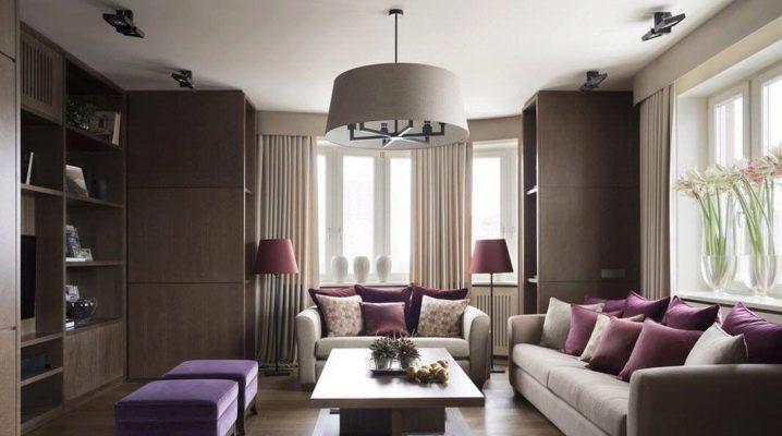 Cele mai bune idei de design din zona de sala de 20 de metri patrati. m în stil modern