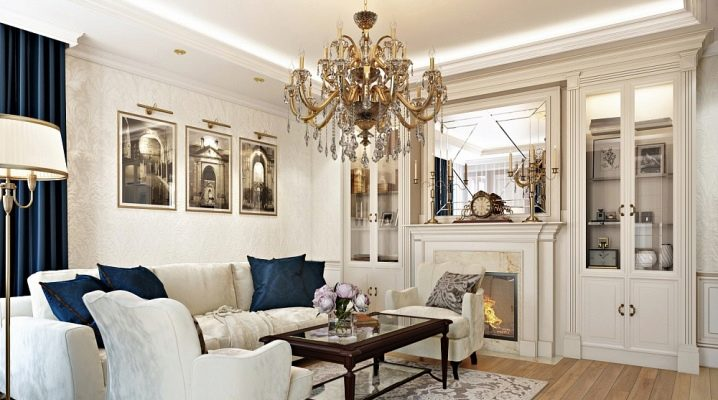 Classic style living room furniture: examples of beautiful design