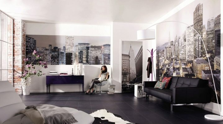 Original wall design ideas in the living room