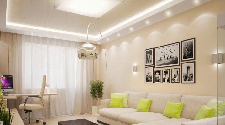 แนวคิดการออกแบบเดิมพื้นที่ห้องโถงของ 18 ตารางเมตร ม.