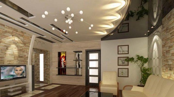 Funktioner av takets utformning i vardagsrummet