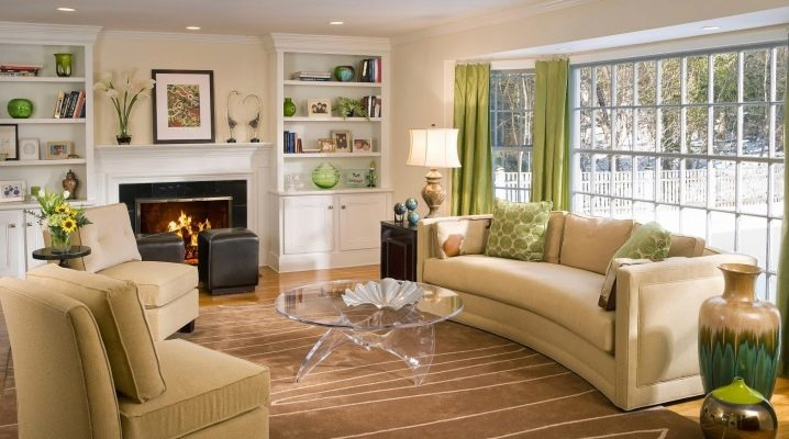 Features of the living room layout