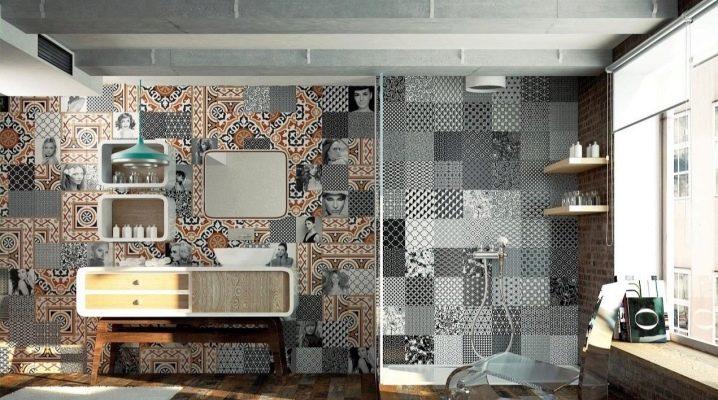 Kakel med ett mönster: vackra lösningar för ditt interiör