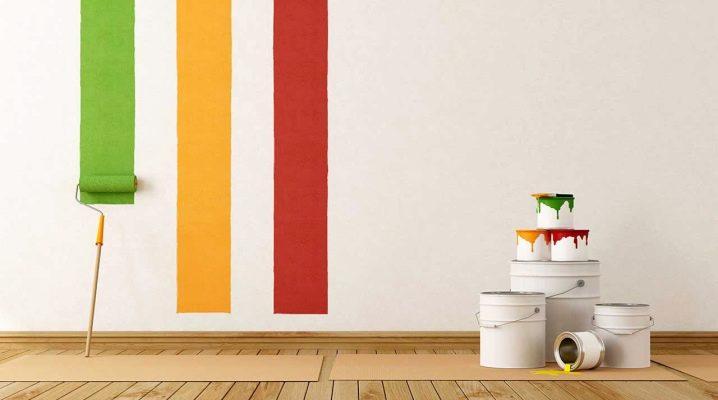 Färgförbrukning per 1 kvadrat.m kvadrat av väggar: vi gör beräkning enligt det valda materialet