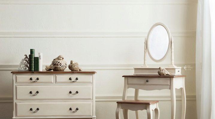 Coiffeuses d'angle avec miroir: caractéristiques à choisir
