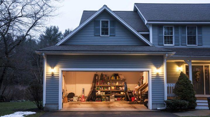 Välja en gardin vid porten till garaget