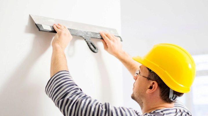 Leveling av väggarna med kitt
