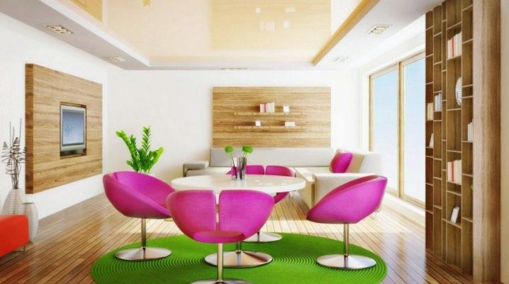 Plafonds tendus sans soudure: types et caractéristiques
