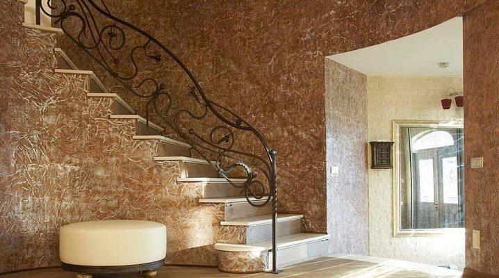 Enduit de sable décoratif: effets et options de composition