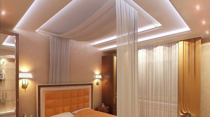 Plafond design dans la chambre: de belles idées de design d'intérieur