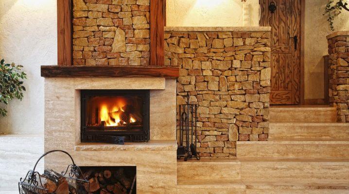 Trä eldstäder för huset: typer och egenskaper av mönster