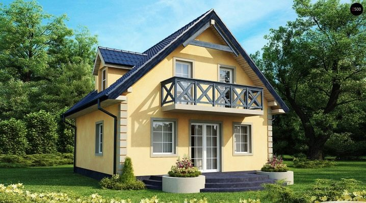 Two-storey house with attic: the choice of materials and examples of projects