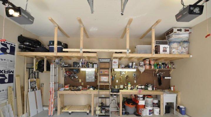 Idéer för garaget: hemlagad tillbehör till hemmet mästaren