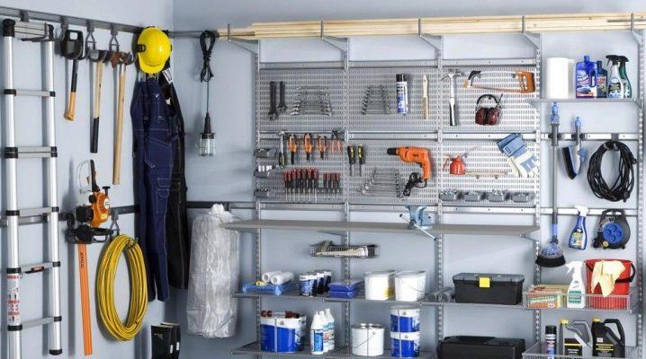 Göra hyllor och ställställ för garaget med egna händer