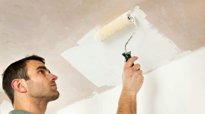 How to paint the ceiling with water-based paint? Painting