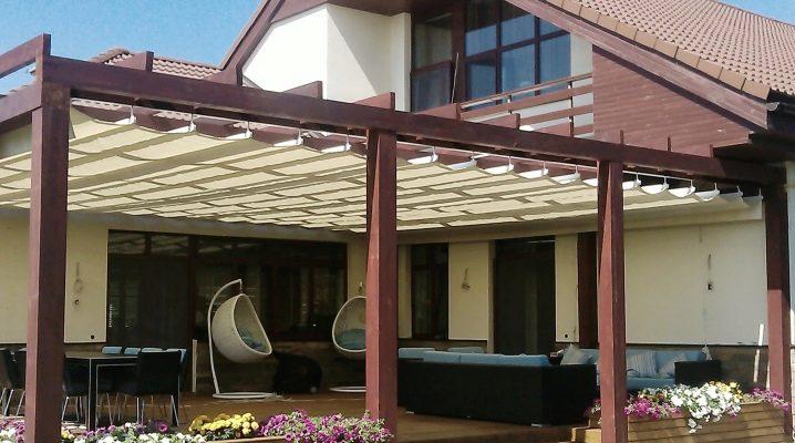 छत के लिए Awnings: डिजाइन की पसंद