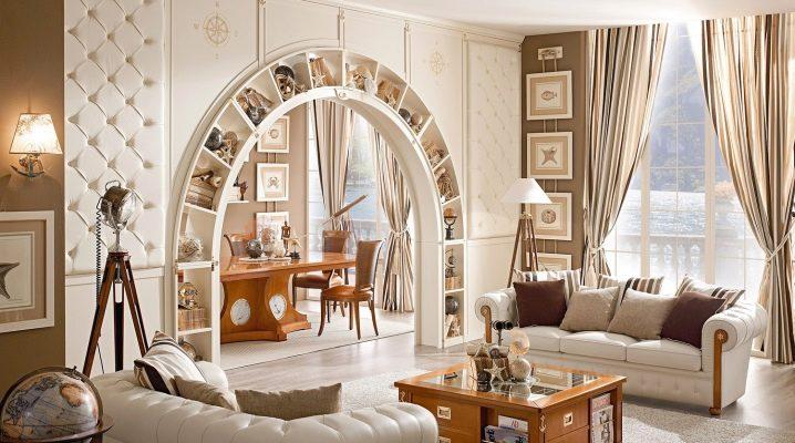 Furniture from plasterboard in interior design