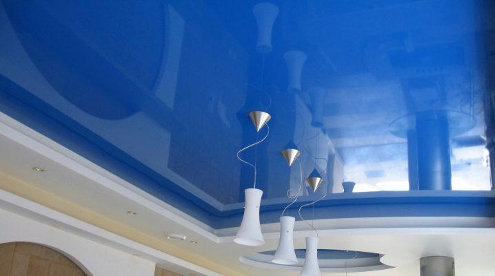 Hur många centimeter går taket när du installerar spänningsväven?